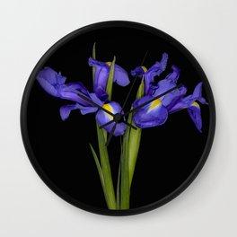 Pretty Iris Wall Clock