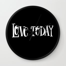 Live Today: black Wall Clock