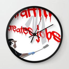 Graffiti Creates Jobs Wall Clock