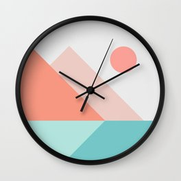 Geometric Landscape 13 Wall Clock
