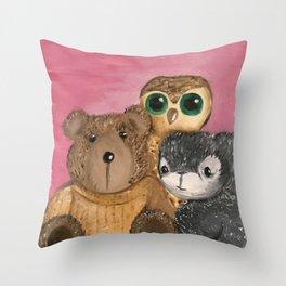 Lovies Throw Pillow