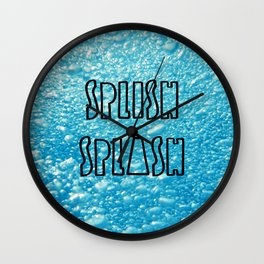 Splish Splash Shower Curtain Wall Clock