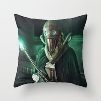 steampunk Throw Pillows featuring Steampunk by Legend Factory