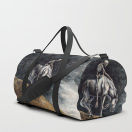 Skeleton Riding a Pale Horse Duffle Bag