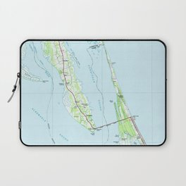 Northern Outer Banks North Carolina Map (1985) Laptop Sleeve