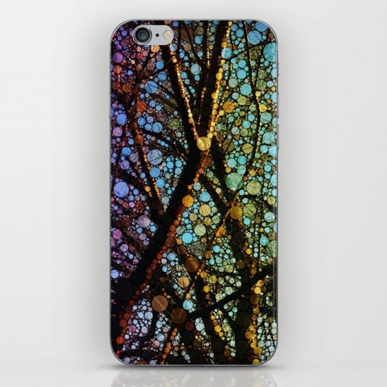 Colourful tree iPhone & iPod Skin