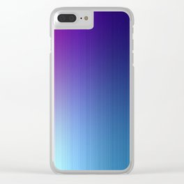 Fuchsia Blue Ombre Clear iPhone Case