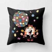 saga Throw Pillows featuring the neverending saga by kemiemo