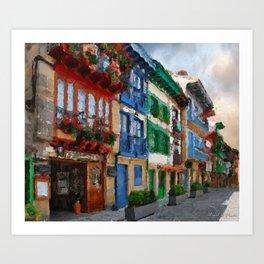 Fisher's town Art Print