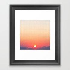 Geometric Sunset Framed Art Print
