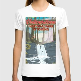 Yellowstone national park travel poster T-shirt
