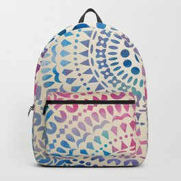 mandala10 Watercolor Mandala Backpack