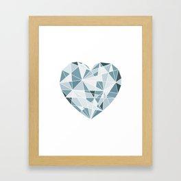 Heart. Geometric Heart. Framed Art Print