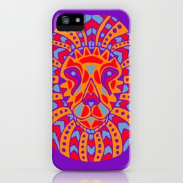 Abstract Lion Design #8 iPhone Case