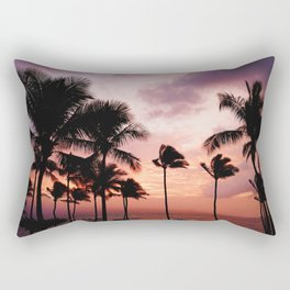 Palm Tree Sunset Rectangular Pillow