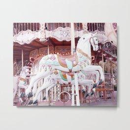 Paris Carousel Horses Metal Print
