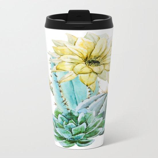 Cactus 02 Metal Travel Mug