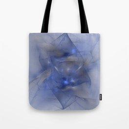 Folds in Blue N Gold Tote Bag