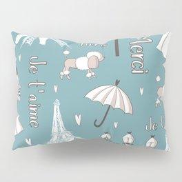 Paris Girl - Blue Pillow Sham