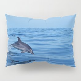 Spotted dolphin jumping in the Atlantic ocean Pillow Sham