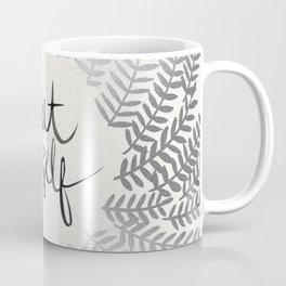 Treat Yo Self – Silver Coffee Mug