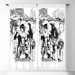 Tarzan of the Apes by Peter Melonas Blackout Curtain