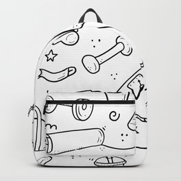 Healthy Life Repeating Pattern Backpack
