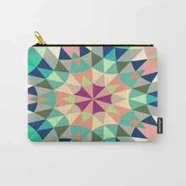 Cool Pink Retro Geometry Carry-All Pouch