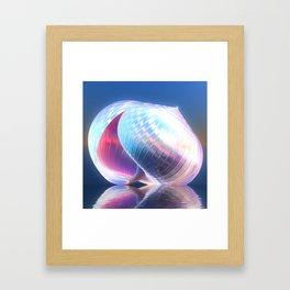 Reflected Shell Framed Art Print