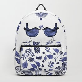 BLUE BIRDS WATERCOLOR - THE GIFT - INDIGO Backpack