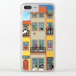 Porto Houses - Portugal Clear iPhone Case