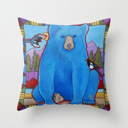 One Sky Above, One Earth Below Throw Pillow