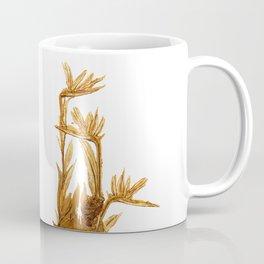 Bird of paradise. Golden Coffee Mug