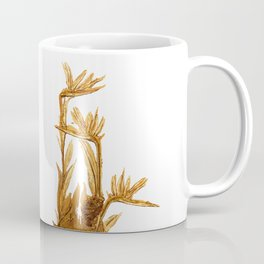 Bird of paradise. Golden Coffee Mug