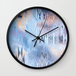 Blue Tribal No.1 Wall Clock