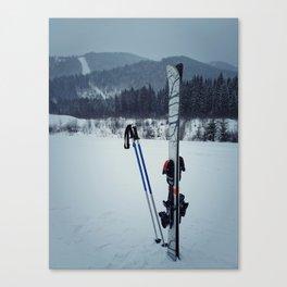 ski equipment Canvas Print