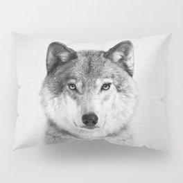 Wolf 2 - Black & White Pillow Sham