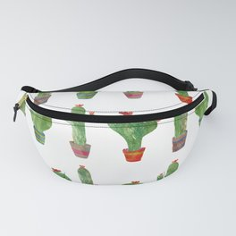 Green Cactus Pattern Fanny Pack