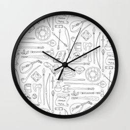 Fantasy Adventuring Equipment Wall Clock