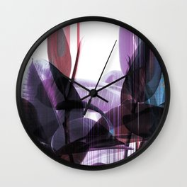 Tropical Glitches Wall Clock