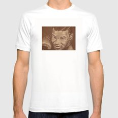 round 7...mike tyson MEDIUM Mens Fitted Tee White