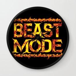Beast Mode Fired Up Wall Clock