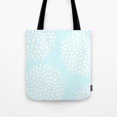 Aqua Blossoms Tote Bag