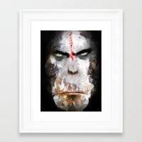 ape Framed Art Prints featuring Ape by Vadim Cherniy
