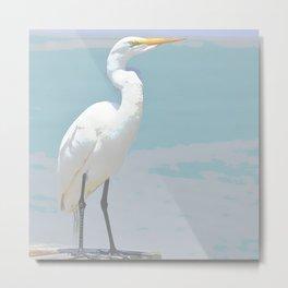 GARZA SOFT COLOR BIRD Metal Print