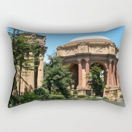 View Over The Lagoone To The Palace Of Fine Arts - San Francisco Rectangular Pillow