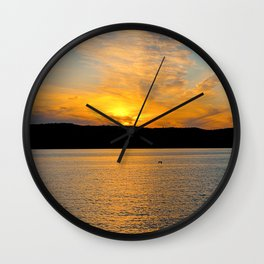 New York Sunset Wall Clock