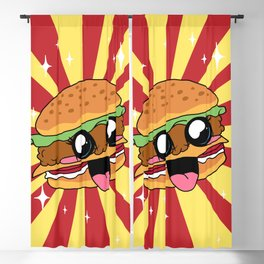 Cute Kawaii Hamburger Blackout Curtain