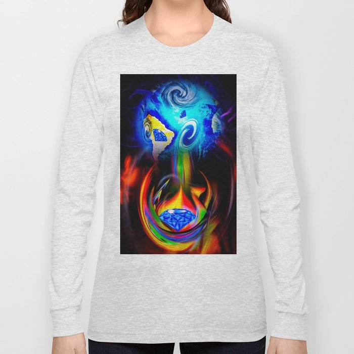 Our World Is A Magic - Is A Diamond Long Sleeve T-shirt