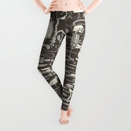 fiendish incisions dark Leggings